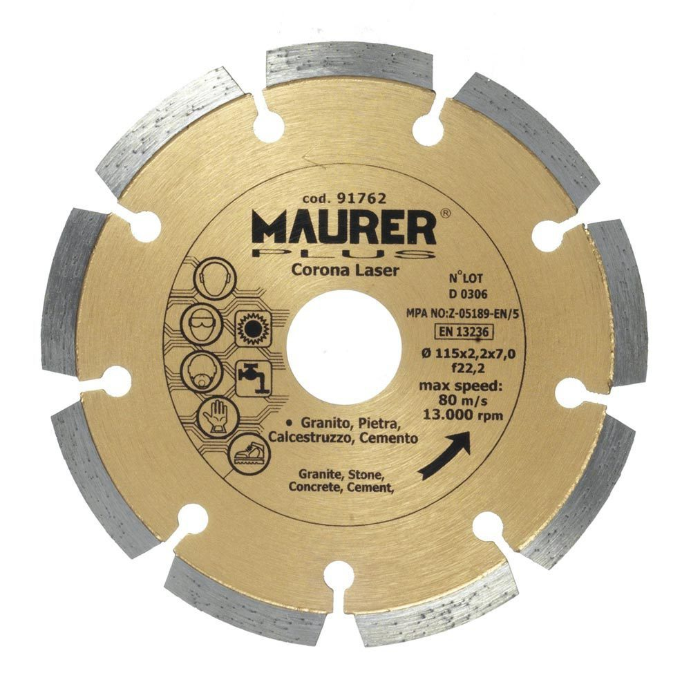 disco-diamante-maurer-segmentado-laser-115-mm