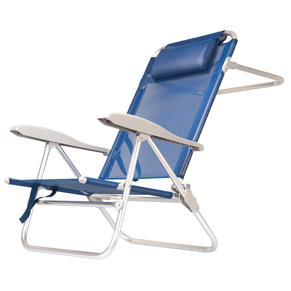 Silla playa aluminio barbados azul la mejor ferreteria for Sillas para la playa