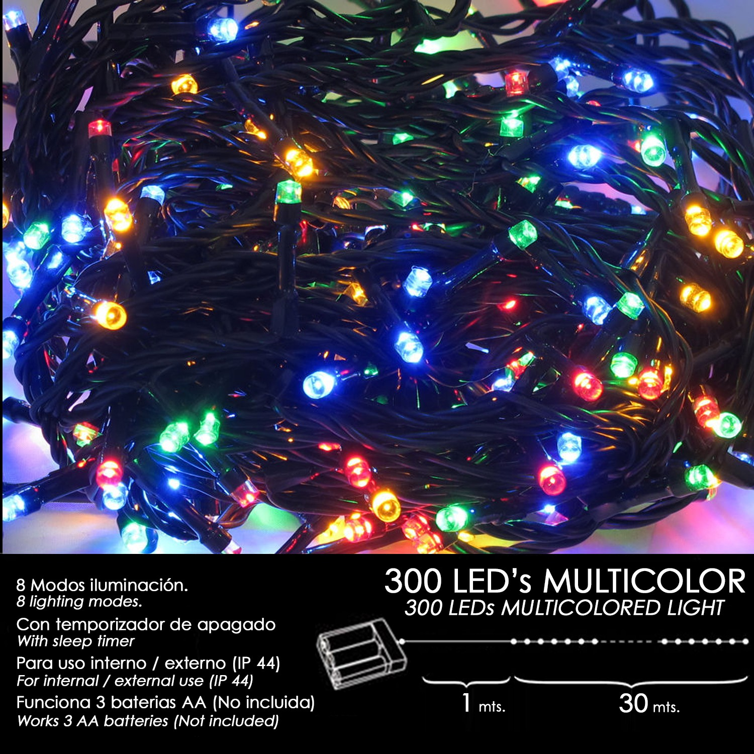 luces-navidad-a-pilas-300-leds-multicolor-interior-exterior-ip44