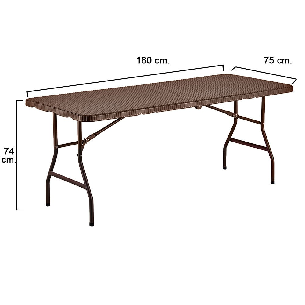 mesa-plegable-rectangular-marron-180-x-75-x-74-cm